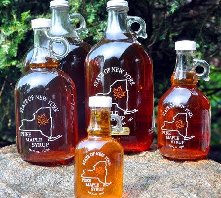 Maple Syrup Glass Jars